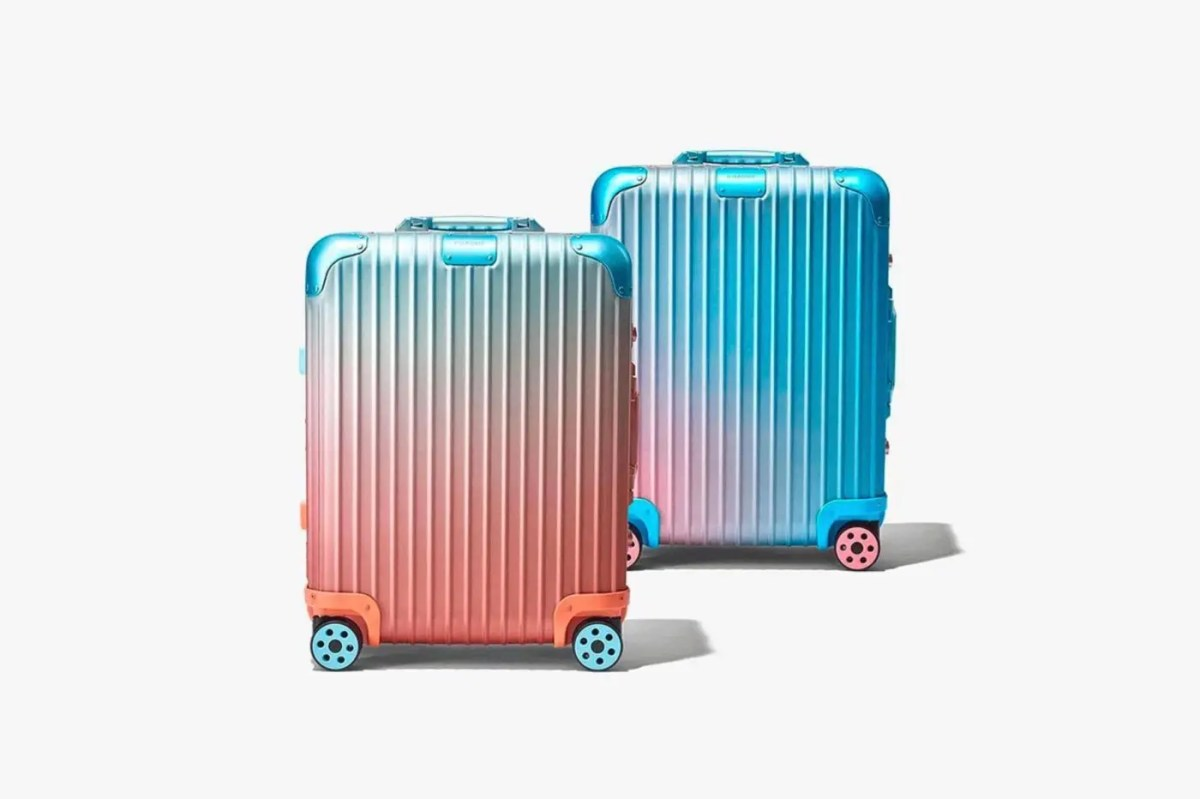 リモワとアレックス・イスラエルがコラボレーション【Rimowa × Alex Israel】ウェストコーストの夕日からインスピレーションを得たというコラボデザインスーツケースを発表