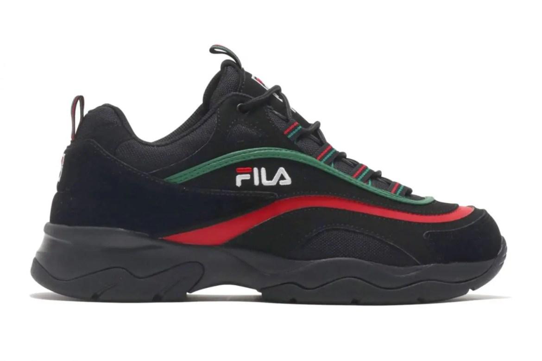 FILA RAY NUBUK BLACK RED GREEN 19SS-I-02
