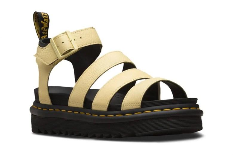 Dr. Martens Platform Sandals Yellow