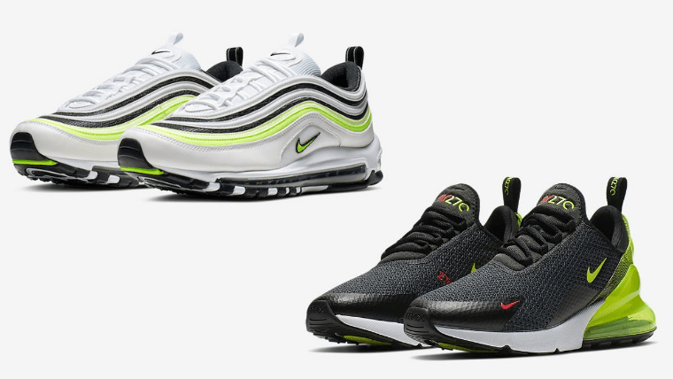 Nike Air Max 97 Air Max 270 Volt Pack