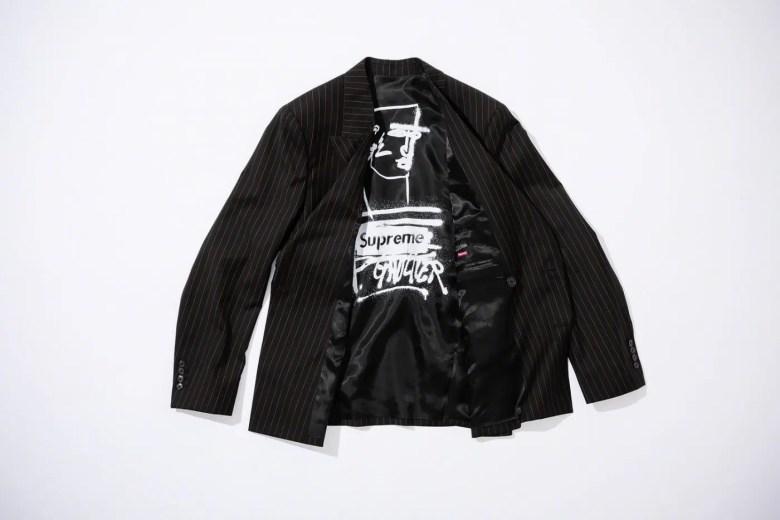 Supreme Week 7 Jean Paul Gaultier Pinstripe Double Breasted Blazer