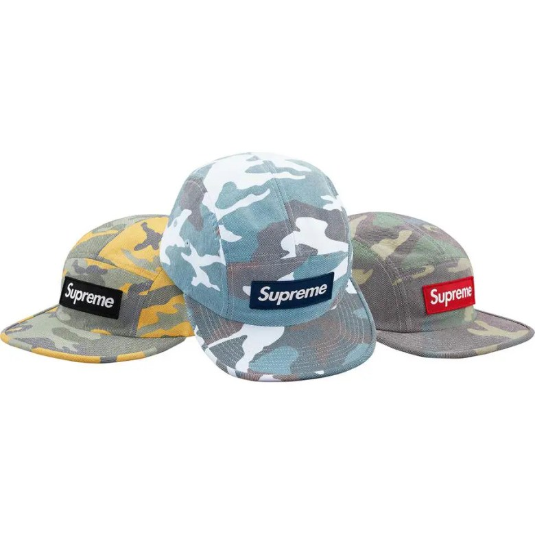 Supreme Week 7 Washed Out Camo Camp Cap