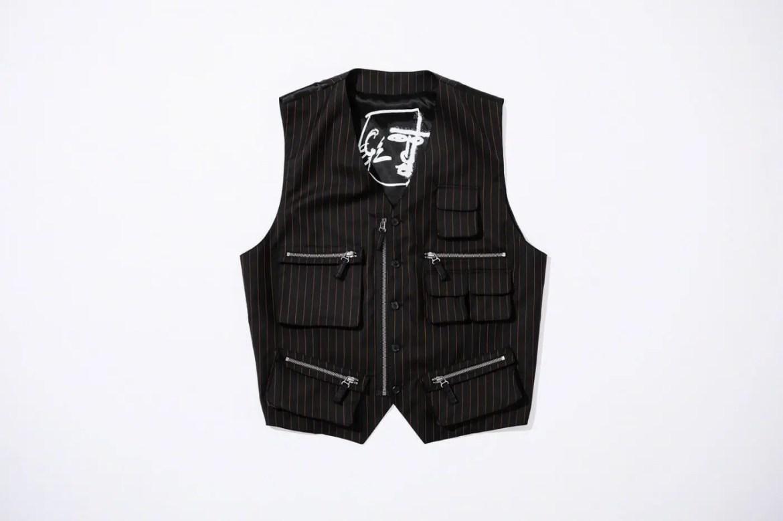 Supreme Week Jean Paul Gaultier Pinstripe Cargo Suit Vest