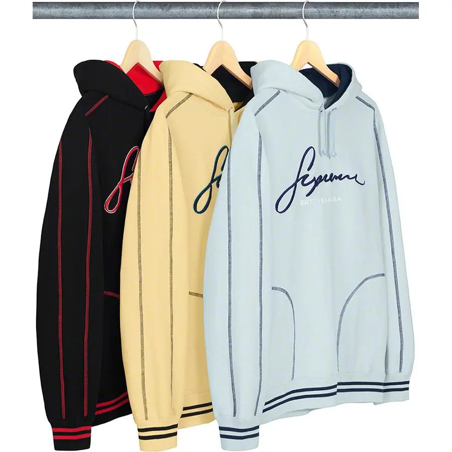Supreme_2019ss_week 9 _contrast_embroidered_hooded_sweatshirt