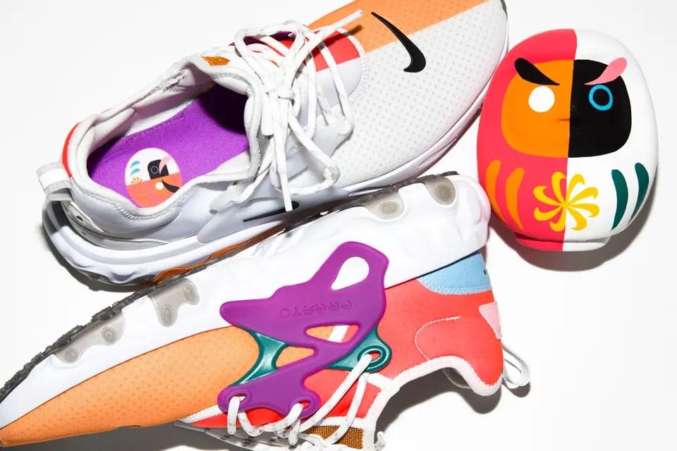 """5/25発売【BEAMS × Nike】ビームスとナイキの注目コラボは""""だるま""""がモチーフ!最新モデルをスペシャルデザインにアップデートした React Presto """"Dharma"""" を国内限定リリース"""