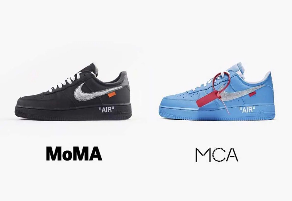 OFF-WHITE × NIKE AIR FORCE 1 LOW MCA BLUE