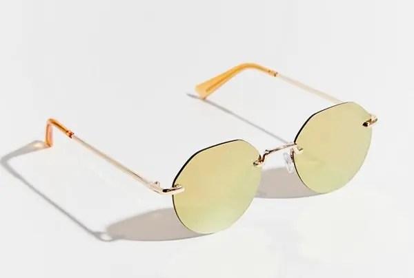 Raven Rimless Hexagon Sunglasses-01