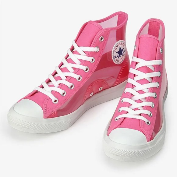 Converse All Star Light Clear Material Hi Pink 1