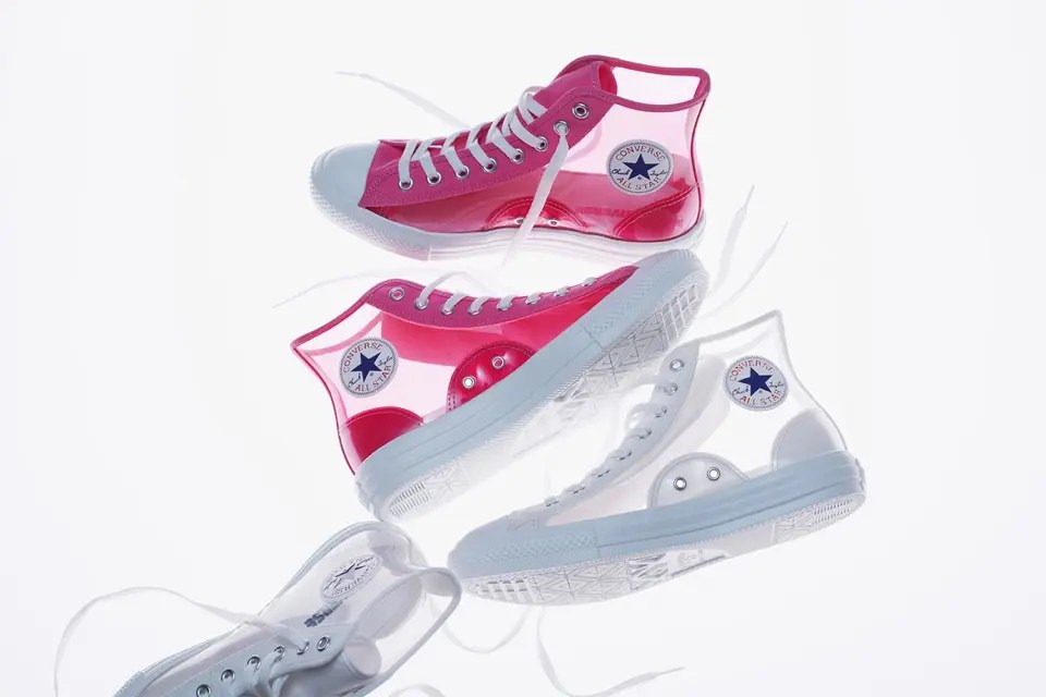 CONVERSE ALL STAR LIGHT CLEARMATERIAL HI Pink White-01