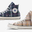 CONVERSE ALL STAR 100 TARTANCHECK HI NAVY BEIGE-01