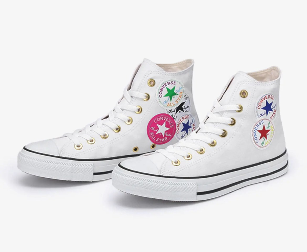 Converse ALL STAR WEARABLE STICKER HI WHITE-01