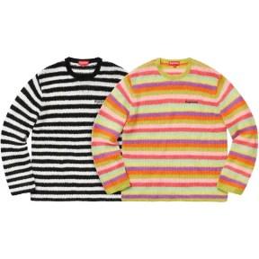 Supreme Stripe Mohair Sweater 2019AW Week 1
