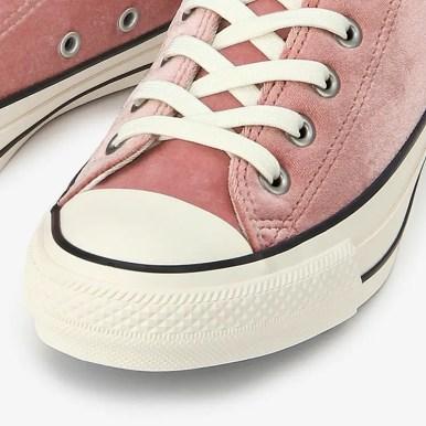 コンバース オールスター 100 ベルベット OX ピンク (Converse All Star 100 Velvet OX Pink)