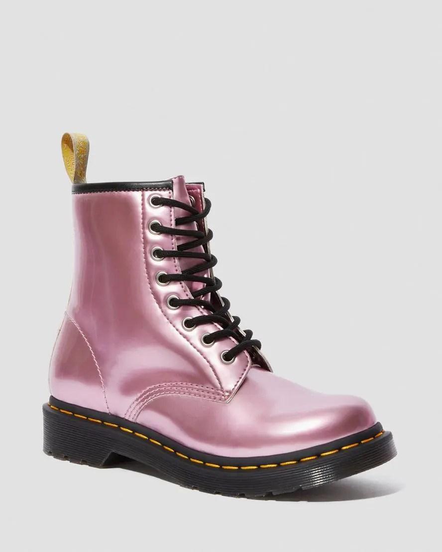 Dr. Martens Vegan 1460 Goldmix Pink Pony Goldmix 25279650 (ドクター マーチン ヴィーガン 1460 ゴールドミックス ピンク ポニー)