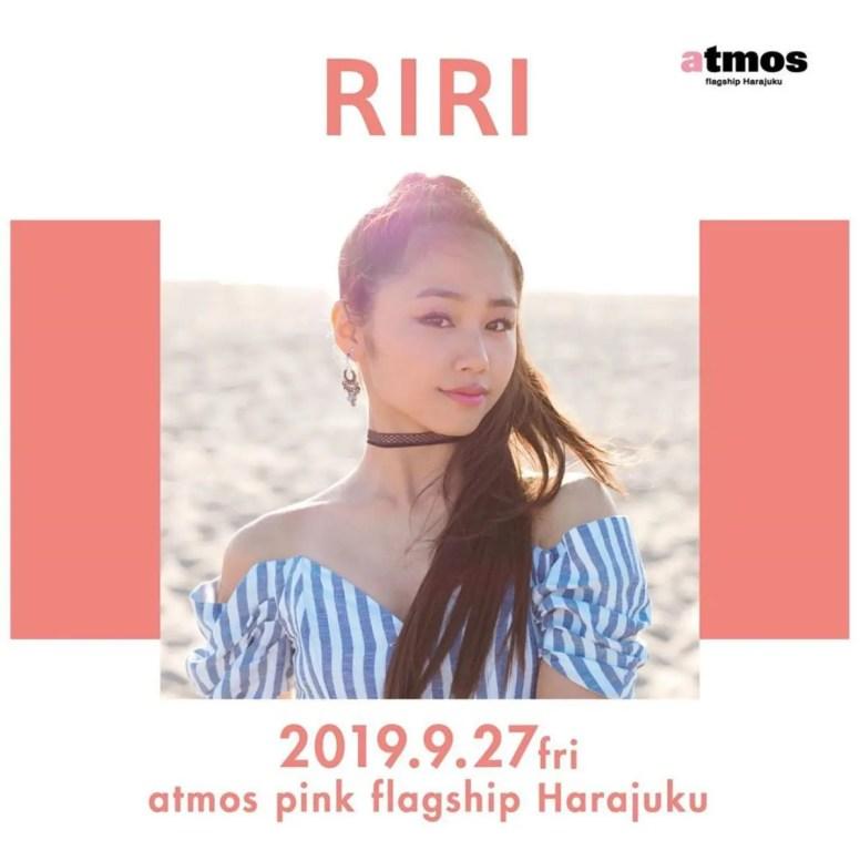 atmos pink flagship Harajuku アトモス ピンク フラッグシップ ストア 原宿 オープン RIRI リリ