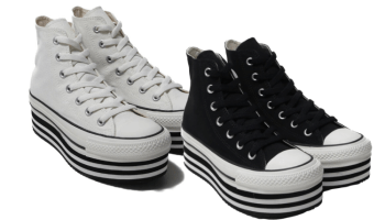 CONVERSE ALL STAR CHUNKYLINE HI ホワイト ブラック 19HO-I-01