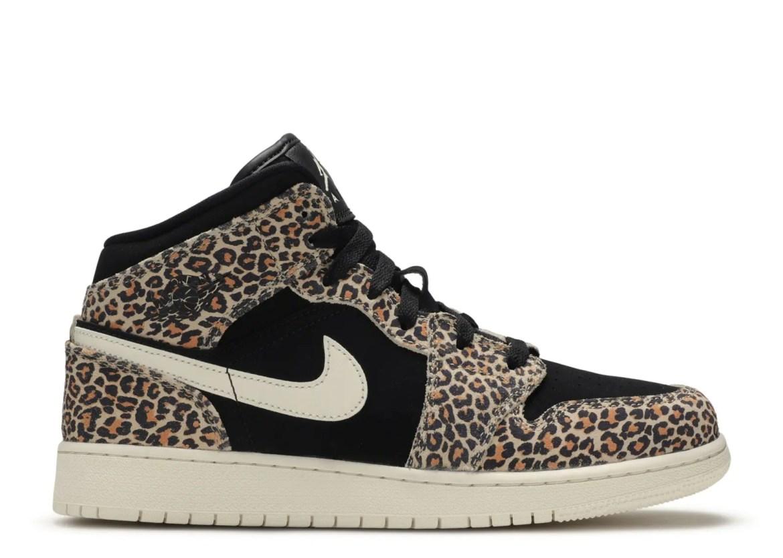 "Nike Air Jordan 1 Mid SE GS ""Leopard"" (ナイキ エア ジョーダン 1 ミッド SE GS ""レオパード"") [BQ6931-021]"