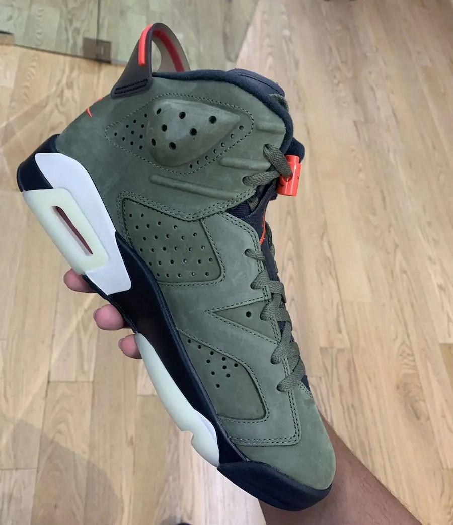"Travis Scott x Nike Air Jordan 6 ""Olive"" (トラヴィス スコット × ナイキ エア ジョーダン 6 ""オリーブ"")"
