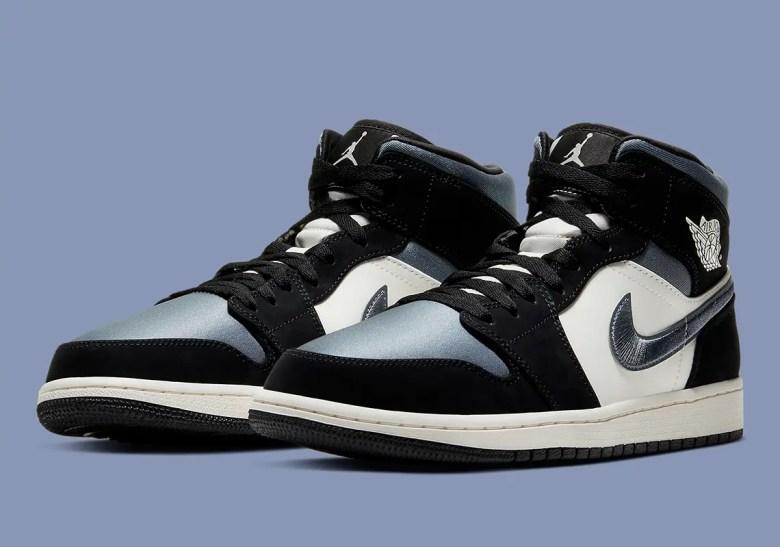 """Nike Air Joradn 1 Mid """"Satin Blue"""" (ナイキ エア ジョーダン 1 ミッド """"サテン ブルー"""") 852542-011"""