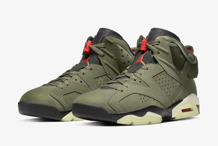 "Travis Scott X Nike Air Jordan 6 ""Olive""  トラヴィス スコット × ナイキ エア ジョーダン 6 ""オリーブ"""