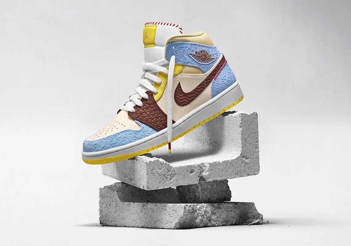 "Maison Chateau x Nike Air Jordan 1 Mid ""Fearless"" メゾン シャトー ルージュ × ナイキ エア ジョーダン 1 ミッド ""フィアレス"""