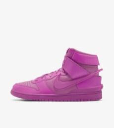 "AMBUSH × Nike Dunk Hi ""Pink Fuchsia"" アンブッシュ × ナイキ ダンク ハイ ""ピンク フクシア"" ACTIVE FUCHSIA/LETHAL PINK CU7544-600 main nike snkrs"