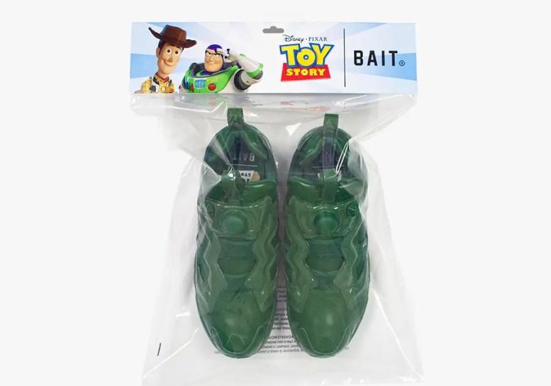Toy Story × BAIT × Reebok INSTAPUMP FURY Woody Buzz Army Men トイストーリー ベイト リーボック インスタポンプフューリー コラボ スニーカー アーミー