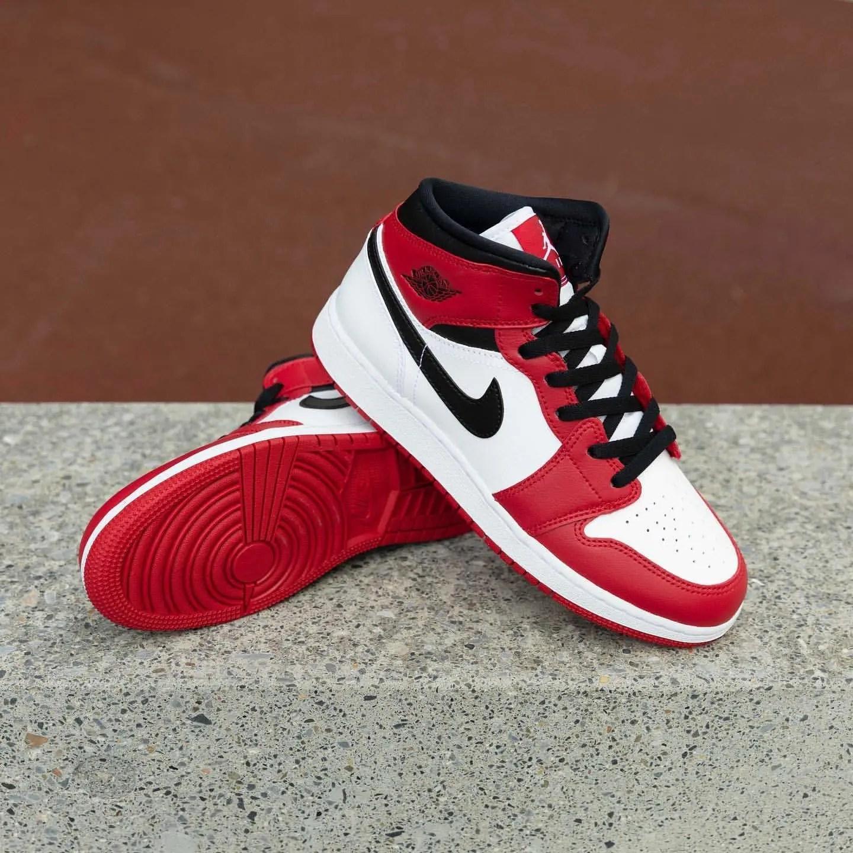 "Nike Air Jordan 1 Mid GS ""Gym Red""】ナイ"