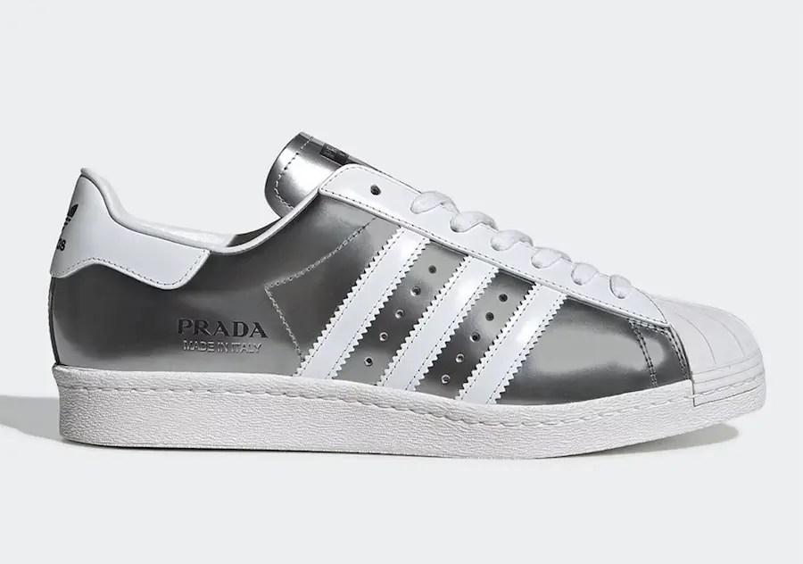 "Prada × adidas Superstar ""Metallic Silver"" (プラダ × アディダス スーパースター ""メタリック シルバー"") FX4546"