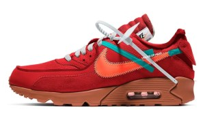 "Off-White × Nike Air Max 90 ""University Red"" (オフホワイト × ナイキ エア マックス 90 ""ユニバーシティ レッド"") AA7293-600"