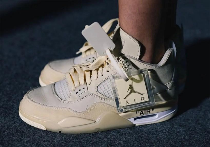 "Off-White × Nike WMNS Air Jordan 4 SP ""Sail"" (オフホワイト × ナイキ ウィメンズ エア ジョーダン 4 SP ""セイル"") CV9388-100"