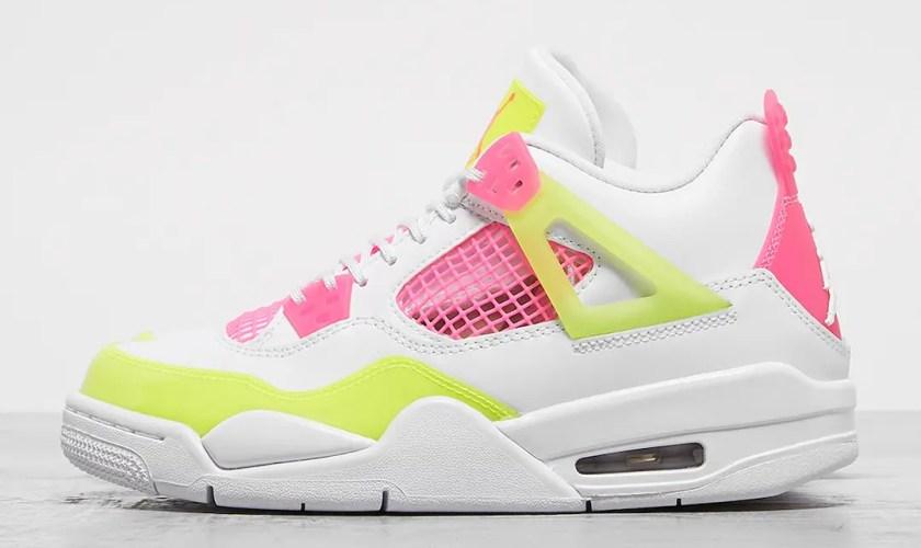 Nike-Air-Jordan-4-GS-Lemon-Venom-Pink-Blast-CV7808-100-01