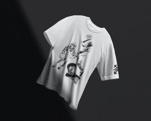 オフホワイト ナイキ コラボ エア ジョーダン 5 セイル Off-White Air Jordan 5 Sail Release Date DH8565-100 アパレル Tシャツ