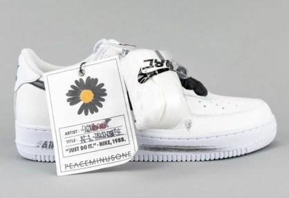 PEACEMINUSONE Nike Air Force 1 2.0 DD3223-100 ピースマイナスワン ナイキ エアフォース 1 パラノイズ ホワイト コラボ side tag