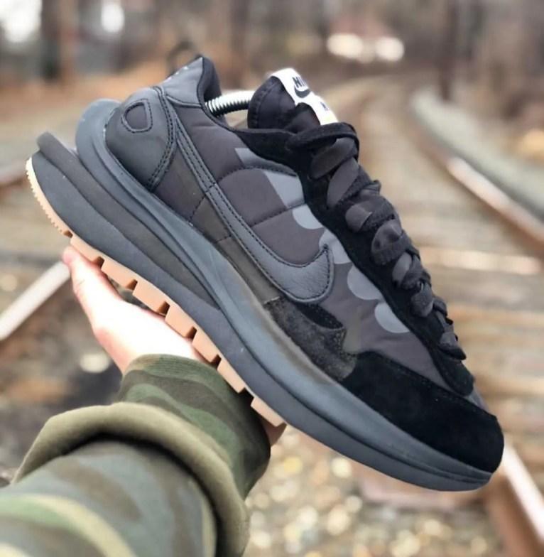 Sacai x Nike VaporWaffle Black/Off-Noir-Off-Noir サカイ ナイキ ヴェイパー ワッフル