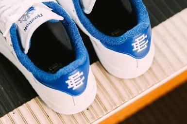 Reebok × Eric Emanuel CLUB C 85 (リーボック × エリック エマニュエル クラブ C 85) FY3410, FY3411, FY3412 blue heel advertisement