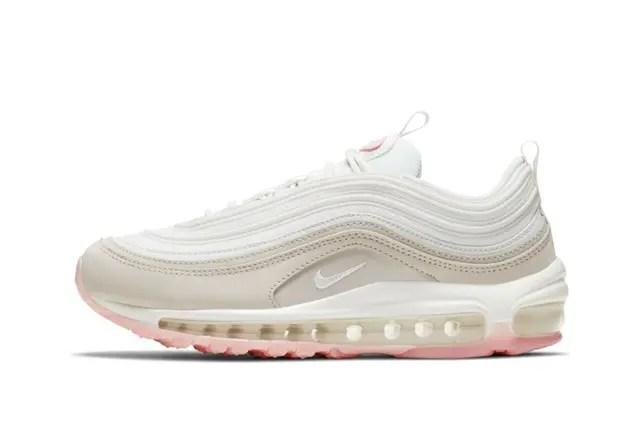 Nike Air Max 97 Summit White And Pink ナイキ エアマックス 97 サミット ホワイト アンド ピンク 100SUMMIT WHITE/MTLC SUMMIT WHT CT1904-100 side
