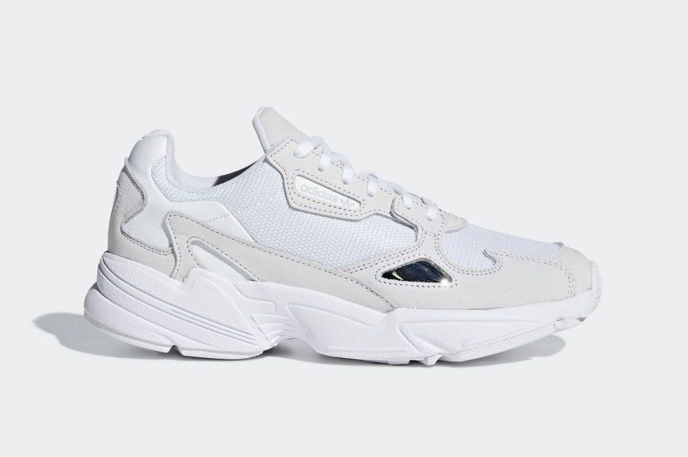 アディダス ファルコン ウィメンズ ホワイト グレー adidas Falcon Sneakers WMNS White Grey