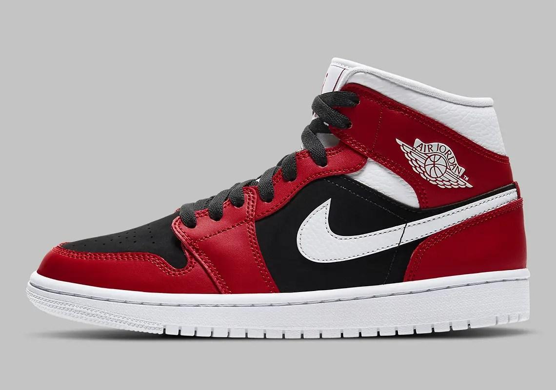 "Nike Air Jordan 1 Mid WMNS ""Gym Red""】ナ"