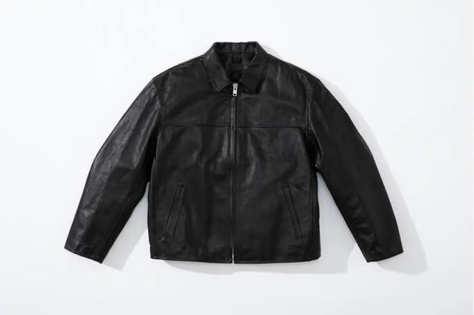 supreme 2020fw week4 シュプリーム 秋冬コレクション Leather Work Jacket black front