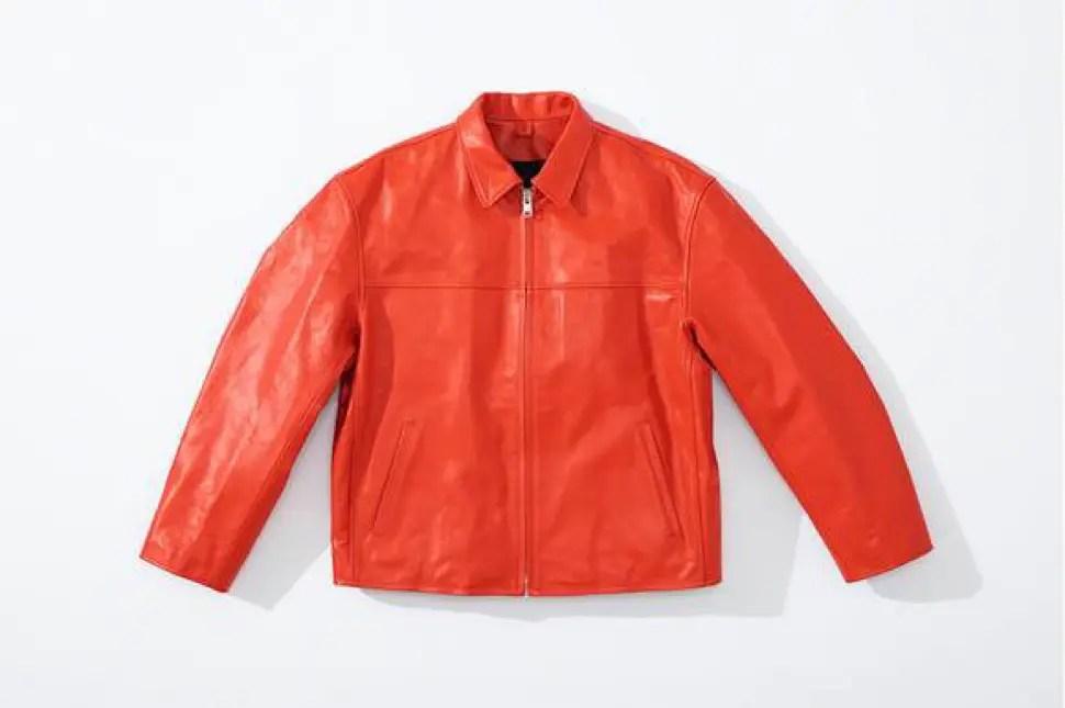 supreme 2020fw week4 シュプリーム 秋冬コレクション Leather Work Jacket red front