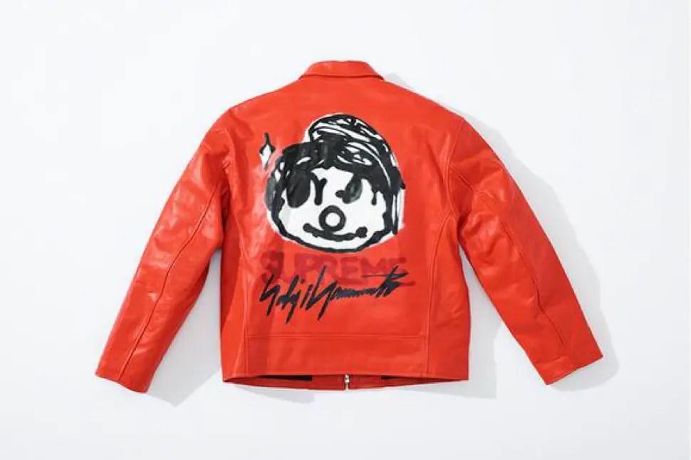 supreme 2020fw week4 シュプリーム 秋冬コレクション Leather Work Jacket red back