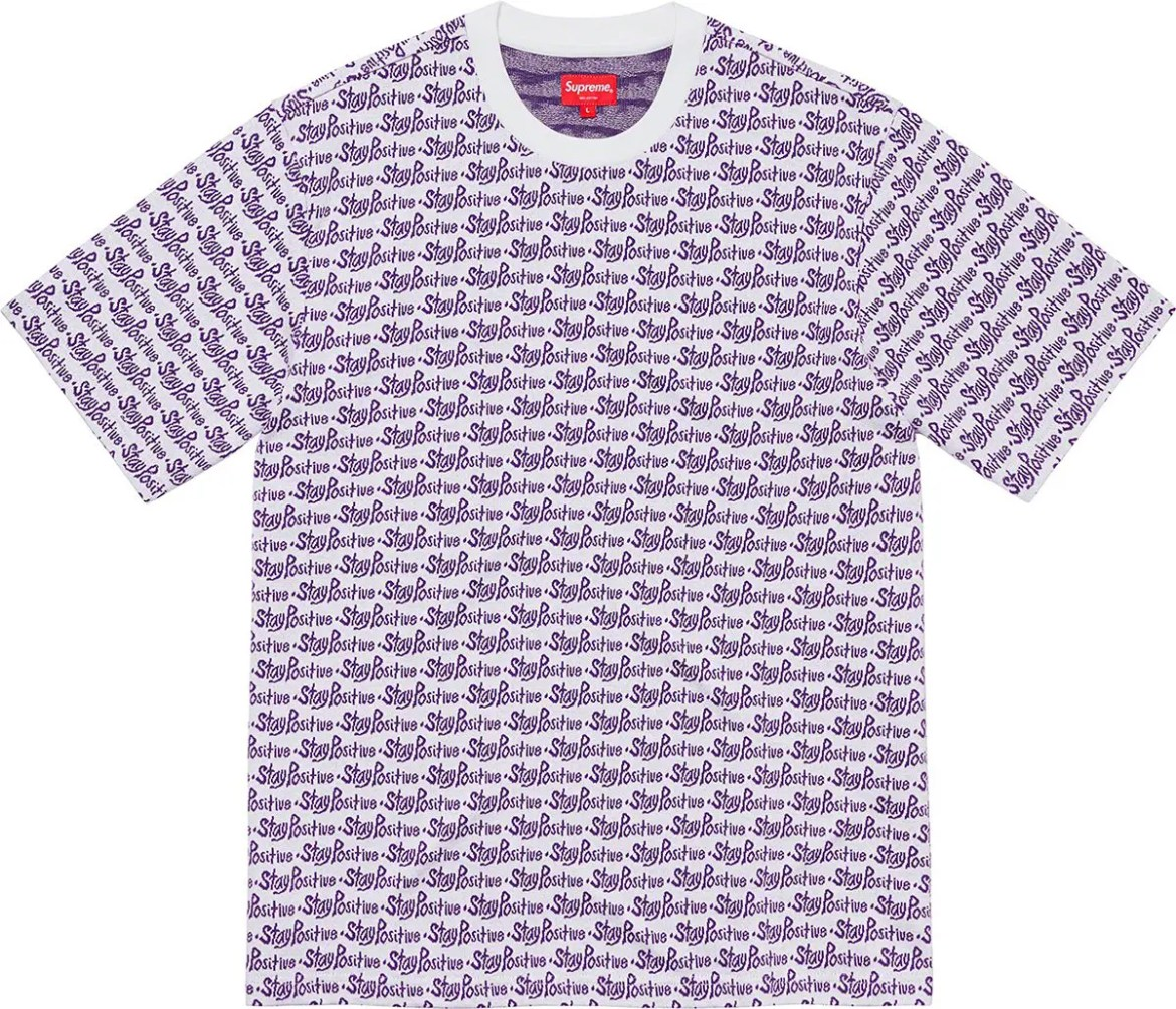 supreme 2020fw シュプリーム 2020年秋冬 week3 Stay Positive Jacquard S/S Top white