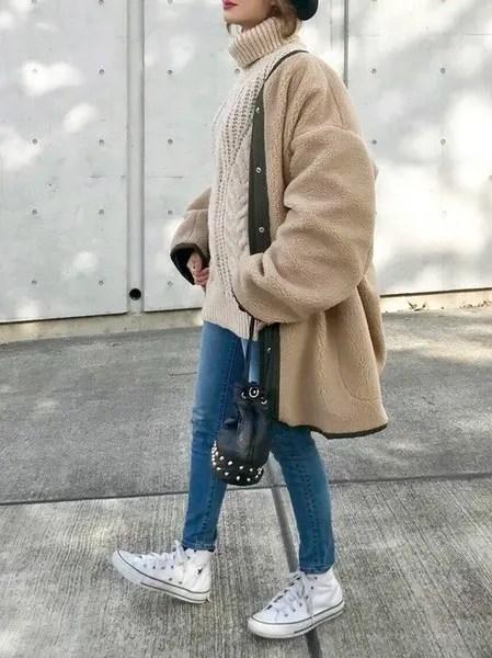 白のスニーカー×パンツ winter-sneaker-style-white-sneaker-style