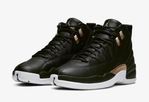 WMNS AIR JORDAN 12 (ウィメンズエアジョーダン12) Nike-Air-Jordan-12-Black-Reptile-Metallic-Gold-AO6068-007