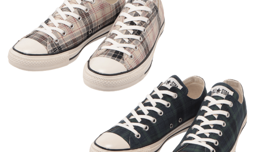 Converse ALL STAR US CHECK OX Navy Green White-01
