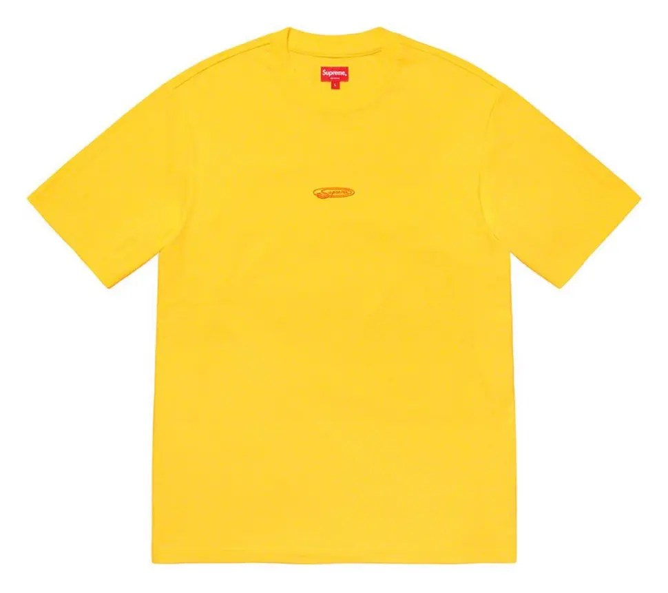 Superme 2020fw week9 Oval SS Top シュプリーム 2020年 秋冬 Tシャツ トップス yellow