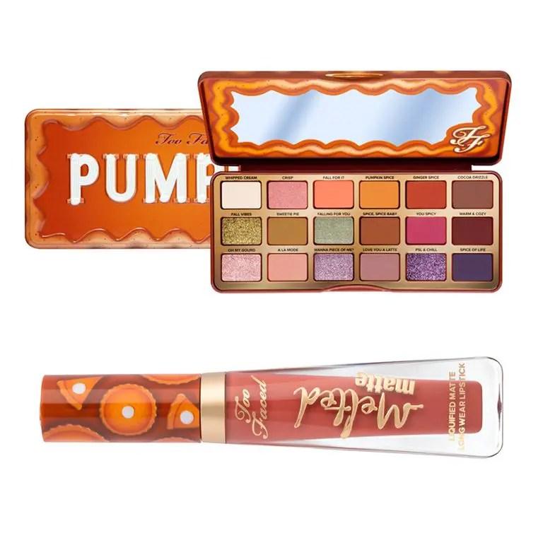 Too Faced pumpkin Eyeshadow palette Lip トゥーフェイスド パンプキン アイシャドウ パレット