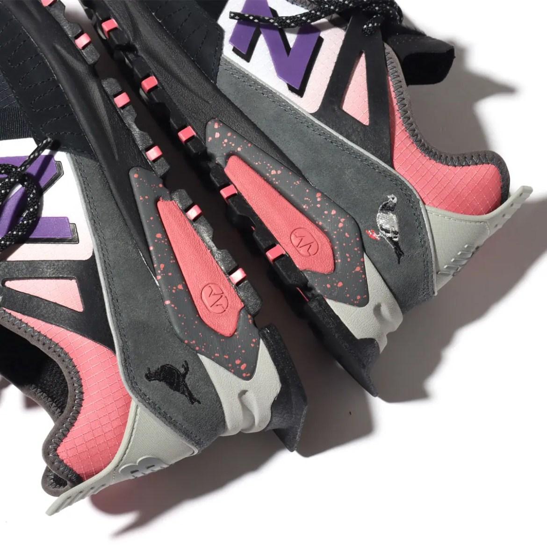 ニューバランス アトモス ジェフ ステイプル コラボ X レーサー ユーティリティ New Balance x atmos x Jeff Staple X-Racer Utility heel logo