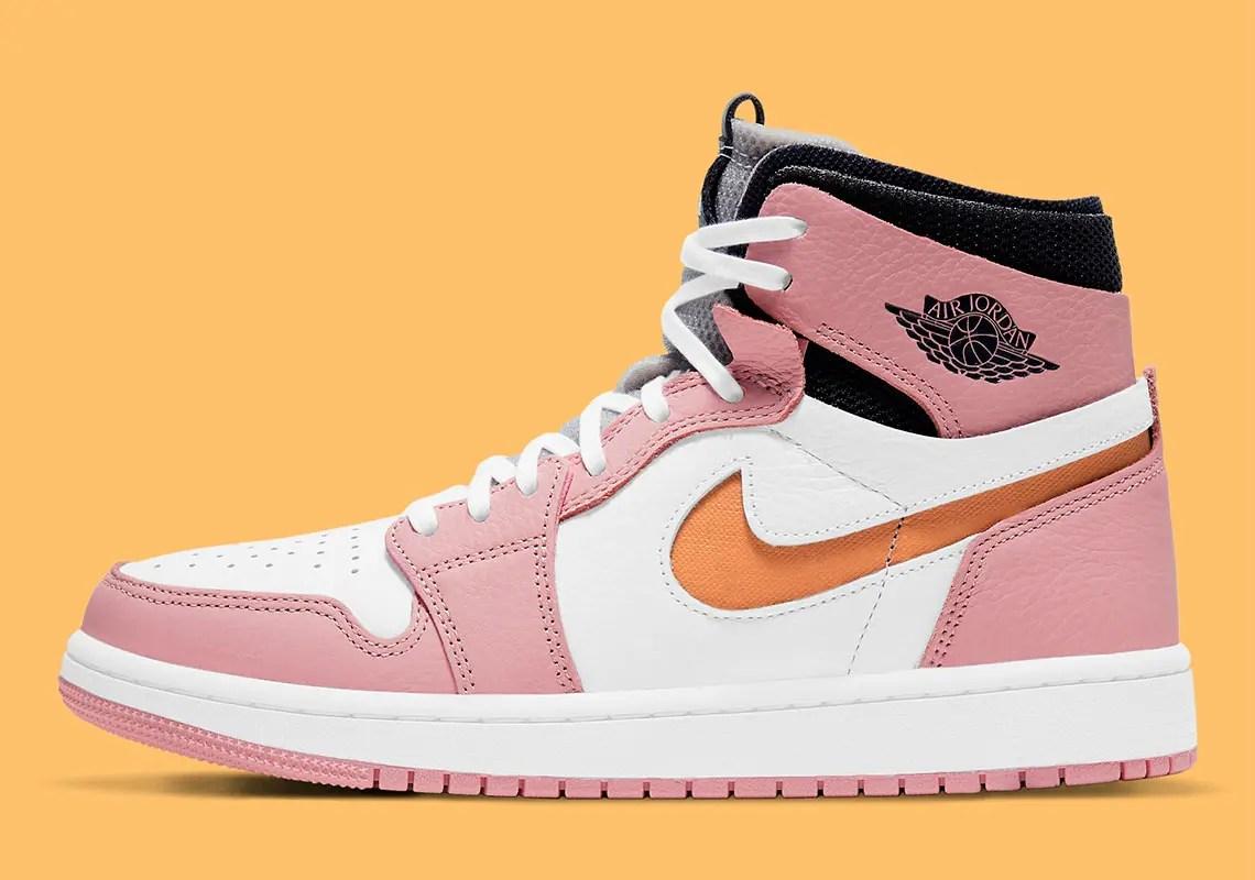 ナイキ エア ジョーダン 1 ズーム コンフォート ピンク グレイズ Nike Air Jordan 1 Zoom Comfort Pink Glaze CT0979-601 side color